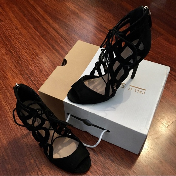 Call it Spring - Suede Lace Up Heels